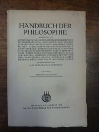 Howald, Ethik des Altertums, In: Handbuch der Philosophie, Abteilung III: Mensch