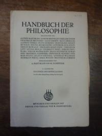 Dempf, Ethik des Mittelalters, In: Handbuch der Philosophie, Abteilung III: Mens