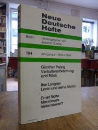 Günther, Neue Deutsche Hefte, Nr. 184, Jahrgang 31, Heft 4/1984,