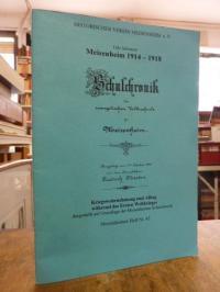 Salomon, Meisenheim 1914-1918, Schulchronik der evangelischen Volksschule zu Mei