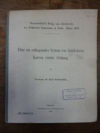 Haentzschel, Über ein orthogonales System von bizirkularen Kurven vierter (4.) O