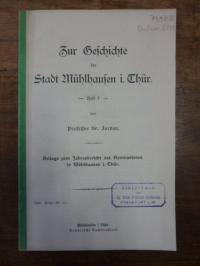 Jordan, Zur Geschichte der Stadt Mühlhausen i. Thür. [in Thüringen],