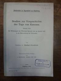 Friedrich, Studien zur Vorgeschichte von Canossa – Zweiter Teil: Die Wirkungen d