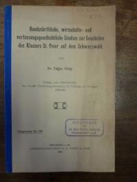 Fleig, Handschriftliche, wirtschafts- und verfassungsgeschichtliche Studien zur