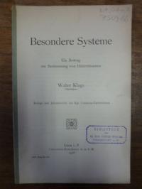Kluge, Besondere Systeme – Ein Beitrag zur Bestimmung von Determinanten,
