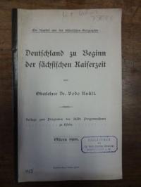 Knüll, Deutschland zu Beginn der sächsischen Kaiserzeit,
