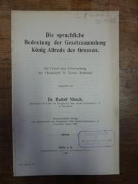 Münch, Die sprachliche Bedeutung der Gesetzessammlung König Alfreds des Grossen