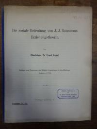 Rousseau, Die soziale Bedeutung von J. J. Rousseaus Erziehungstheorie,