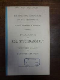 Ullrich, De Salviani Scripturae Sacae Versionibus,