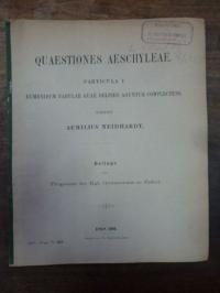Neidhardt, Quaestiones Aeschyleae, Particula I – Emenidum fabulae quae Delphis A