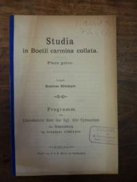 Huettinger, Studia in Boetii carmina collata – Pars prior: De laude et auctorita