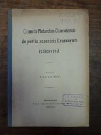 Mühl, Quomodo Plutarchus Chaeronensis de poëtis scaenicis Graecorum iudicaverit,