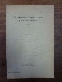 Hoppe, De sermone Tertullianeo – quaestiones selectae,