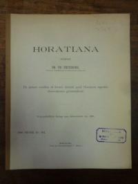 Fritzsche, Horatiana – de iisdem versibus et formis dicendi apud Horatium repeti