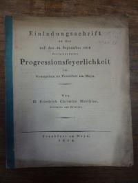 Matthiae, Einladungsschrift zu der auf den 24 September festgesetzten Progressio