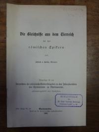 Kolbe, Die Gleichnisse aus dem Tierreich bei den römischen Epikern, Schulprogram