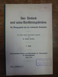 Schröder, Das Dreieck und seine Berührungskreise, Ein Übungsgebiet aus der rechn