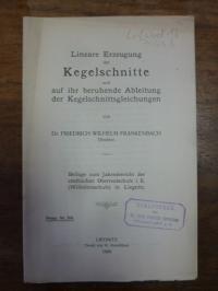 Frankenbach, Lineare Erzeugung der Kegelschnitte und auf ihr beruhende Ableitung