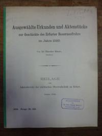 Eitner, Ausgewählte Urkunden und Aktenstücke zur Geschichte des Erfurter Bauerna