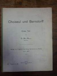 Marcus, Choiseul und Bernstorff, 1. Teil,