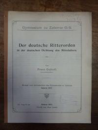 Gulhoff, Der deutsche Ritterorden in der deutschen Dichtung des Mittelalters,