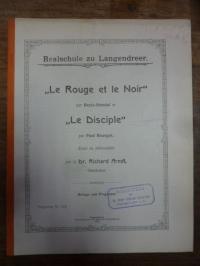"""Arndt, """"Le Rouge et le Noir"""" par Beyle-Stendal et """"Le Disciple"""" par Paul Bourget"""