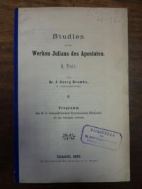 Brambs, Studien zu den Werken Julians des Apostaten,