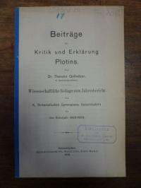Gollwitzer, Beiträge zur Kritik und Erklärung Plotins,
