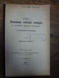 Martin, Quatenus Hesiodeae rationis vestigia in carminibus Homericis reperiantur