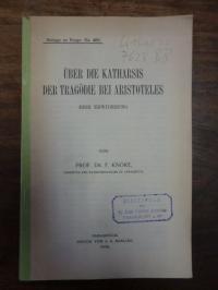 Knoke, Über die Katharsis der Tragödie bei Aristoteles – Eine Erwiderung,