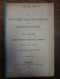 Ipfelkofer, Die Rhetorik des Anaximenes unter den Werken des Aristoteles,