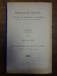 Homer / Schmid, Homerische Studien, I. Homer, das hellenische Universalgenie,