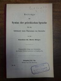 Boettger, Beiträge zur Syntax der griechischen Sprache für den Gebrauch beim Übe
