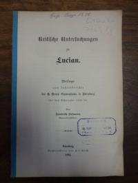 Hofmann, Kritische Untersuchungen zu Lucian,