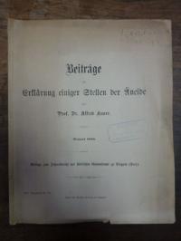 Vergil / Knorr, Beiträge zur Erklärung einiger Stellen der Äneide [Aeneis],