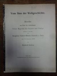 Seeberg, Vom Sinn der Weltgeschichte,
