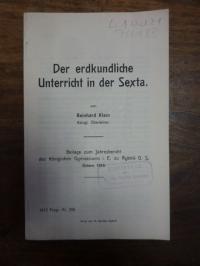 Klein, Der erdkundliche Unterricht in der Sexta,