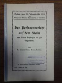 Steins, Der Personenverkehr auf dem Rhein von seinen Anfängen bis zur Gegenwart,