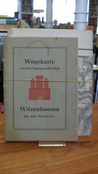 Witzenhausen / Schmitt, Wegekarte von der Umgebung der Stadt Witzenhausen für de