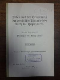 Lüdtke, Polen und die Erwerbung der preußischen Königswürde durch die Hohenzolle