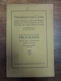 Günther, Theodoret von Cyrus und die Kämpfe in der orientalischen Kirche vom Tod