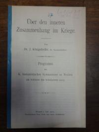 Königsdorfer, Über den inneren Zusammenhang im Kriege,