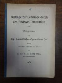 Wilke, Beiträge zur Lebensgeschichte des Andreas Pankratius,