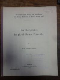 Schacht, Zur Energielehre im physikalischen Unterricht,