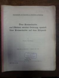 Franz, Über Kreisschnitte auf Flächen zweiter Ordnung, speziell über Kreisschnit