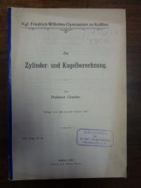 Graeber, Zur Zylinder- und Kugelberechnung,