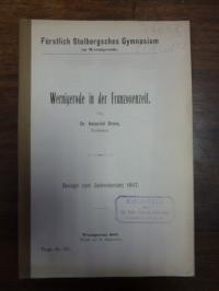 Wernigerode / Wernigerode Drees, Wernigerode in der Franzosenzeit,
