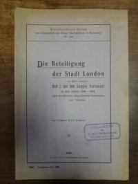 Andler, Die Beteiligung der Stadt London am Streit zwischen Karl I. und dem Lang