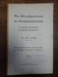 Kaulfuss, Die Grundprobleme der Geschichtsphilosophie mit besonderer Berücksicht