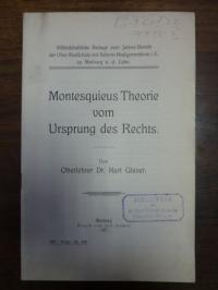 Glaser, Montesquieus Theorie vom Ursprung des Rechts,